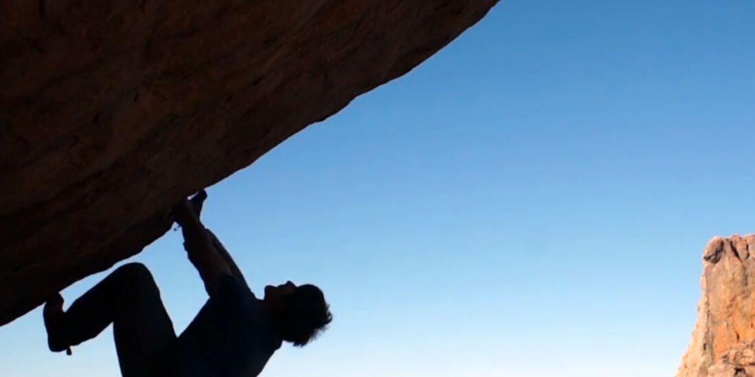 KL Ethan Hawke bouldert in den Rocklands, Südafrika