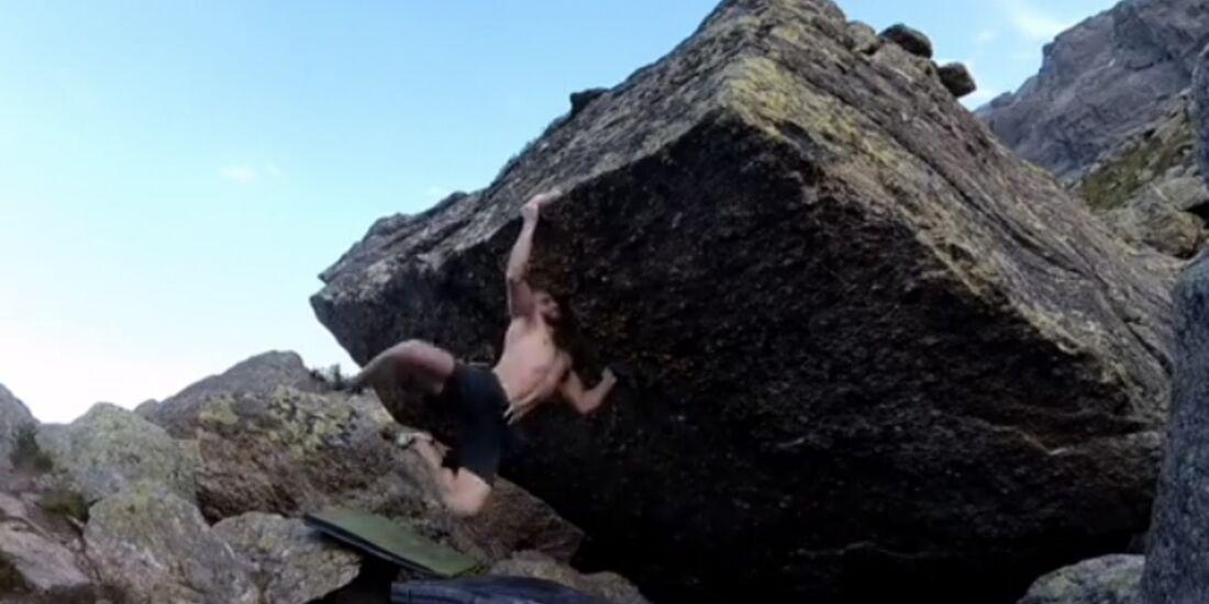 KL Flo Wientjes bouldert Golden Gate 8B Silvretta