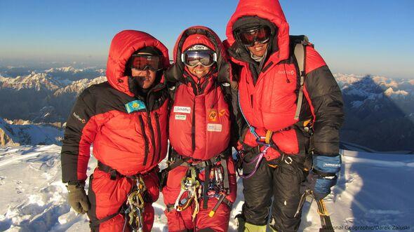 KL Gerlinde Kaltenbrunner besteigt K2