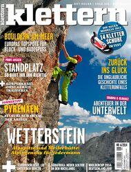 KL Titelbild Cover Magazin klettern Juni 2014 6-2014