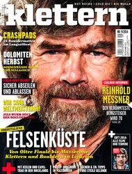 KL klettern September 2014 Cover Titel Messner